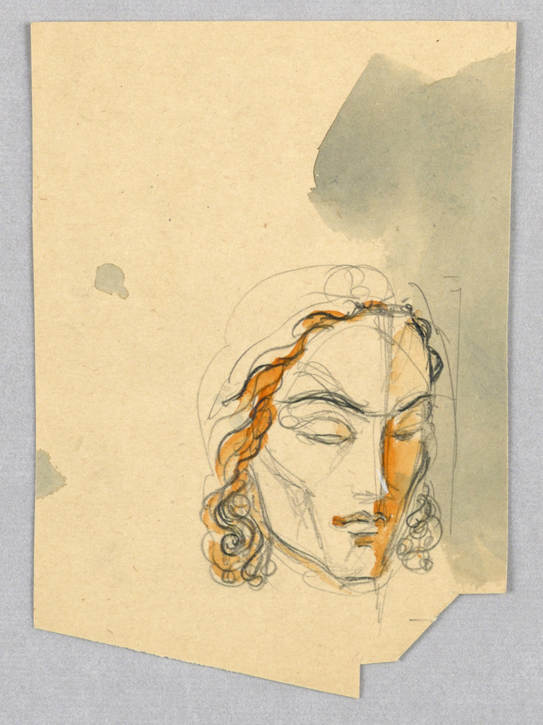 Drawing, Female Head, Turning Right