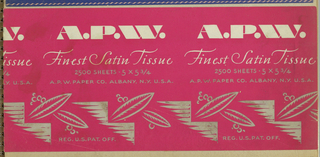 Ephemera, A. P. W. Finest Satin Tissue 2500