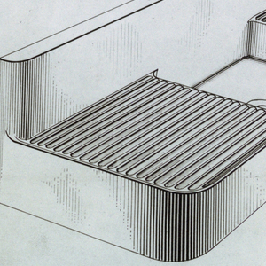 The present documents pertain to a patent application for a sink with double drainboard.