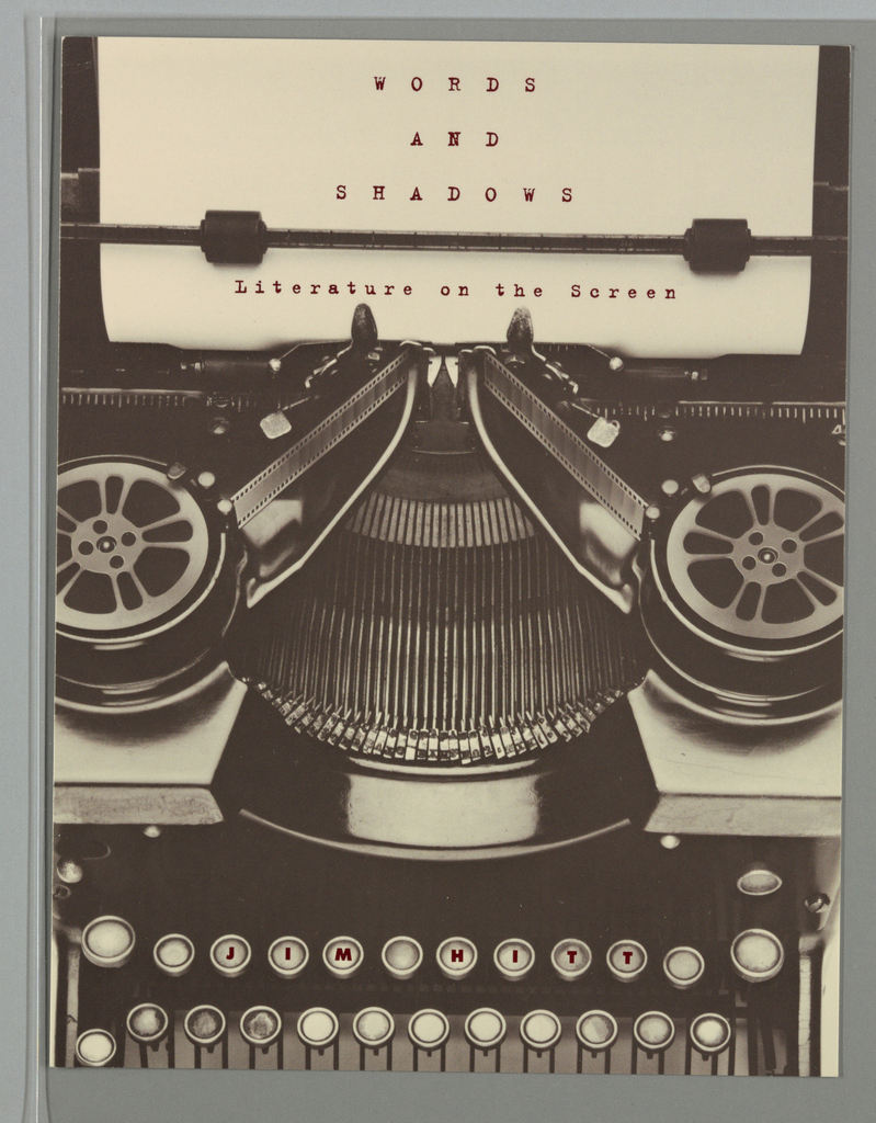 Book Cover, Words and Shadows
