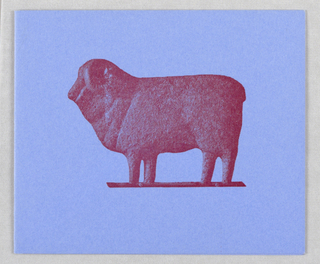 Red sheep on cover; partial red sheep inside right edge