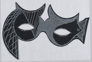 Paper Mask, Halloween greeting card
