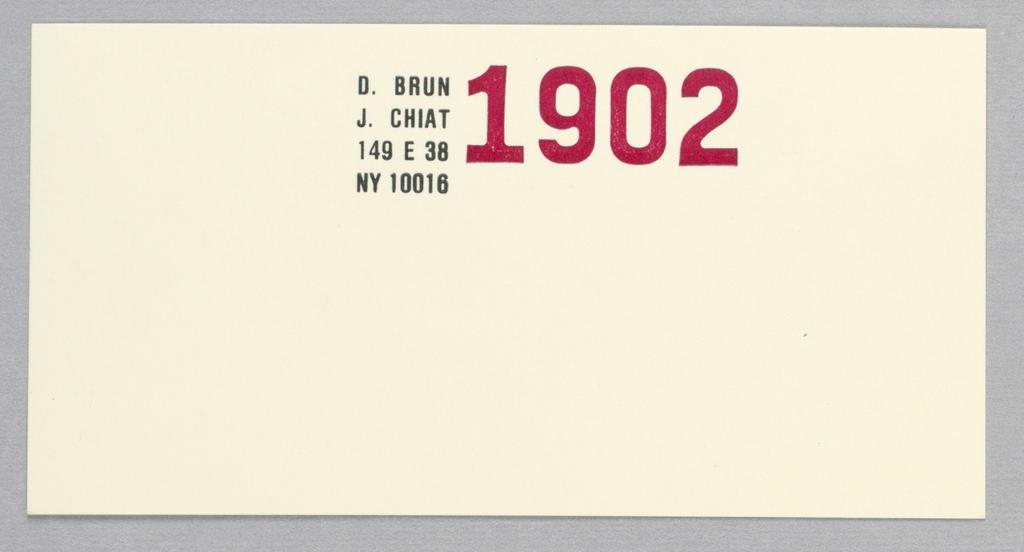 Stationery, Jay Chiat / Donatella Brun: Stationery