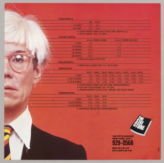 Price List, Stat store - Andy Warhol