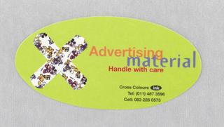 Sticker, Cross Colours