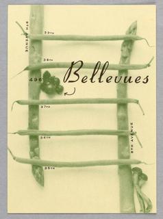 Postcard, Restaurant Bellevues:  Vegetable Grid