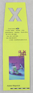 Business Card, Cross Colours Inc.