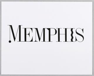 Logo, Memphis (Condominiums): Logo, 1985