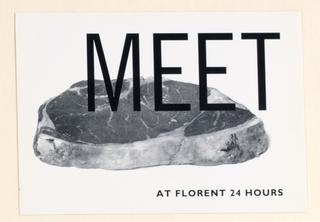 Postcard, Restaurant Florent:  Meet (Meat)