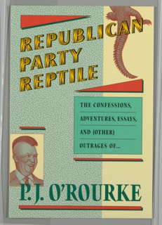 Book Cover, Republican Party Reptile