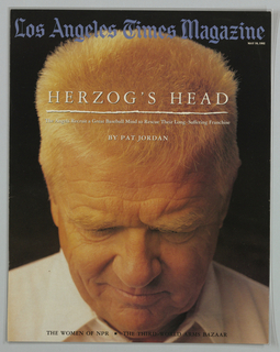 Book Cover, Los Angeles Times Magazine