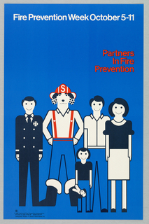 Poster, Partners in Fire Prevention, 1980