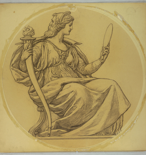 "Drawing, Study for ""Prudence,"" Lunette in Hudson County Courthouse, Jersey City, NJ"