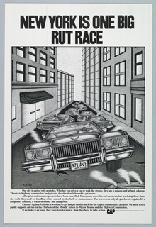 Poster, New York is One Big Rut Race