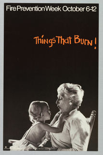 Poster, Things that burn! Fire Prevention Week, 1974