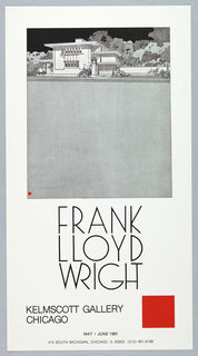 Poster, Kelmscott Gallery, Chicago, 1981