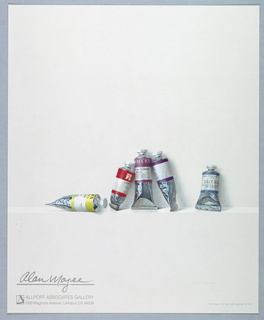 Poster, Paint Tubes, 1980