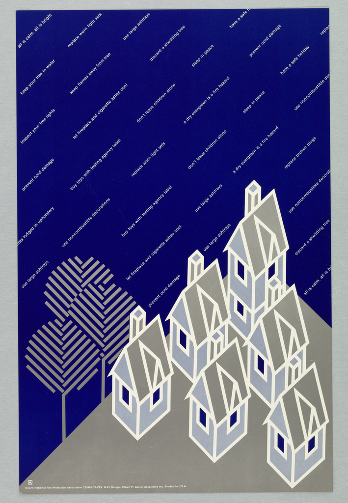 Poster, All is calm, all is bright..., 1974