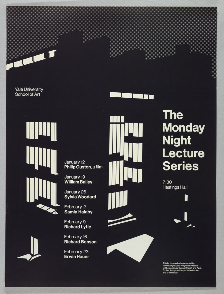 Poster, The Monday Night Lecture Series