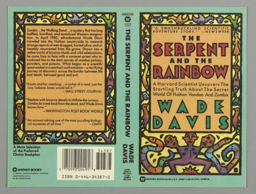 Book Cover, The Serpent and the Rainbow