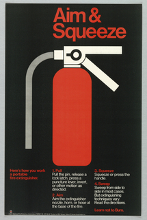 Poster, Aim & Squeeze, 1976
