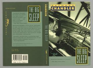 Book Cover, Vintage Crime: Chandler: The Big Sleep