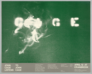 Poster, John Cage Listens to John Cage