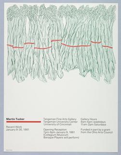 Poster, Martin Tucker: Recent Work, 1980