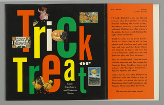 Book Cover, Trick or Treat