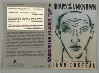 Book Cover, Diary of an Unknown