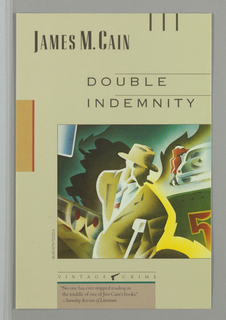 Book Cover, Vintage Crime: Double Indemnity