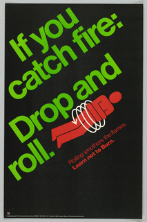 Poster, If you catch fire: drop and roll., 1976