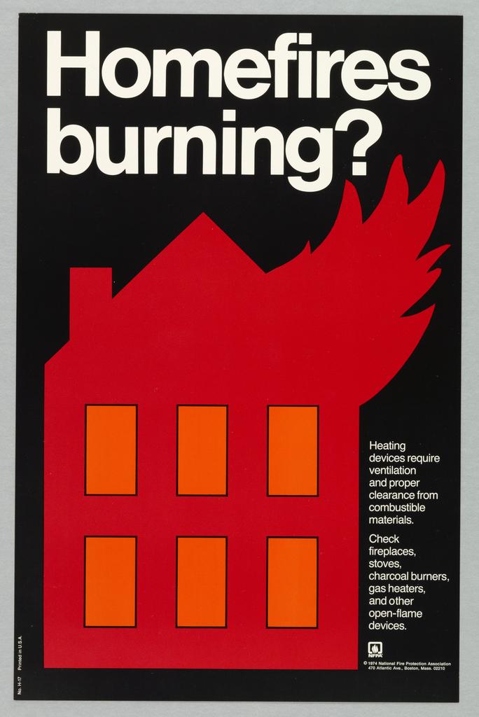 Card says: Homefires burning?