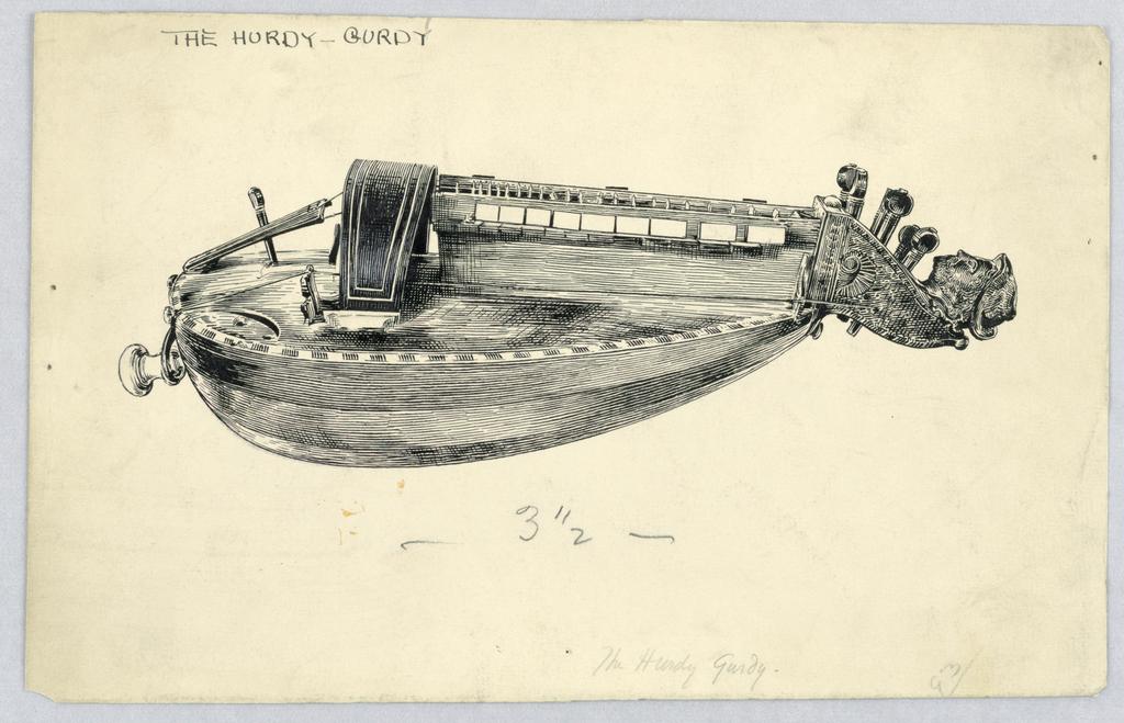 Drawing, The Hurdy Gurdy, ca. 1895–1915