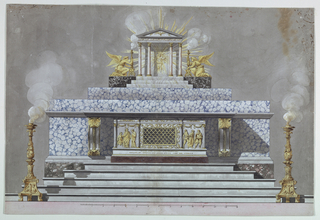 Drawing, Altar Dedicated to a Virgin Martyr [St. Lucy?]
