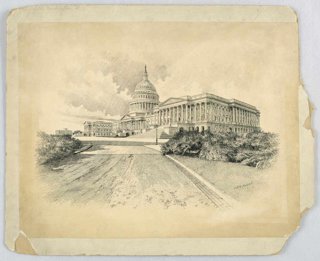 Drawing, The Capitol, Washington, D.C., ca. 1904