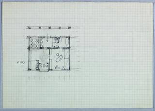 Drawing, Floor Plan [Blechturmgasse Wohnung (Blechturmgasse House)]