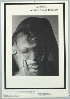 Multiple exposure photograph of black woman for International Convention on the Suppression and Punishment of the Crime of Apartheid.