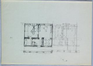Drawing, Two Floor Plans [Blechturmgasse Wohnung (Blechturmgasse House)]