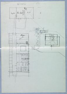 Drawing, Sauna Skizzen [Sauna Sketches (Floor Plans)]