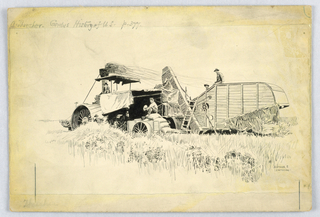 Drawing, A thresher