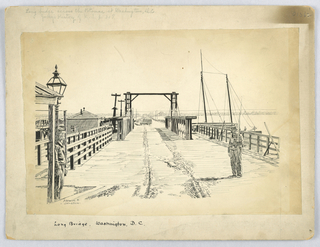 Drawing, Long Bridge across Potomac