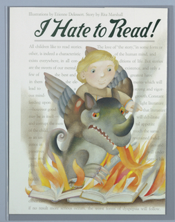 Book Cover, I Hate to Read!