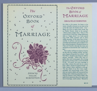 Book Cover, The Oxford Book of Marriage