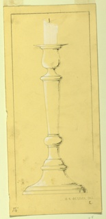 Drawing, Project for a Candlestick, ca. 1933