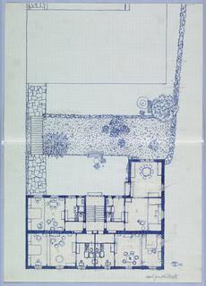 Floor plan and garden.
