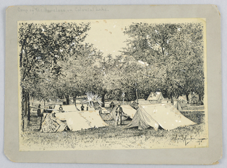 Drawing, Camp of the Homeless on Colonial Lake.