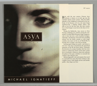 Book Cover, Asya, 1991