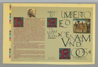 Book Cover, De Naam van de Roos
