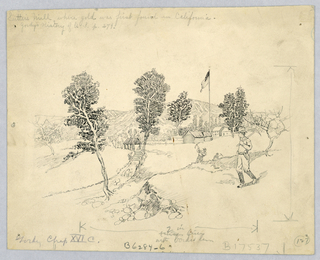 Drawing, Sutter's Mill, ca. 1904